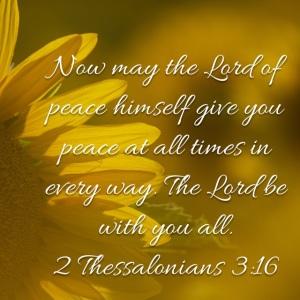 2 Thessalonians 3 verse 16