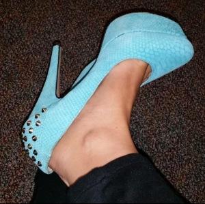 Blue Platform Shoes - Mama J