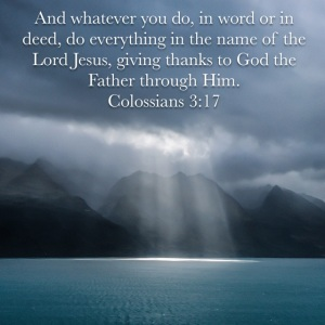 Colossians 3 verse 17