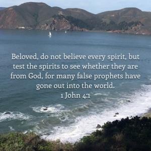 I John 4 verse 1