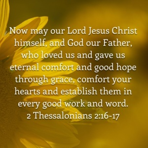 2 Thessalonians 2 verses 16-17