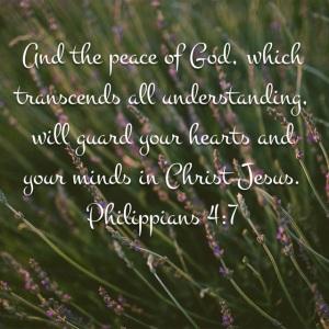 Philippians 4 verse 7