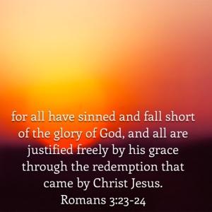 Romans 3 verse 23-24