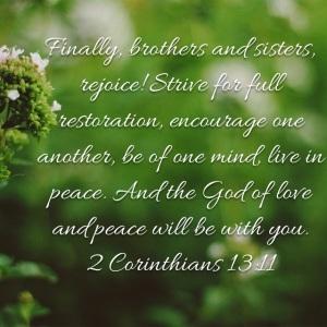 2 Corinthians 13 verse 11