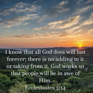 Ecclesiastes 3 verse 14