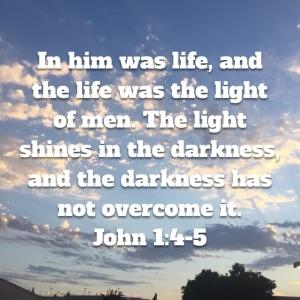 John 1 verses 4 and 5