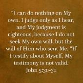 John 5 verse 30 and 31