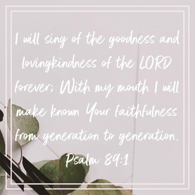 psalm 89 verse 1