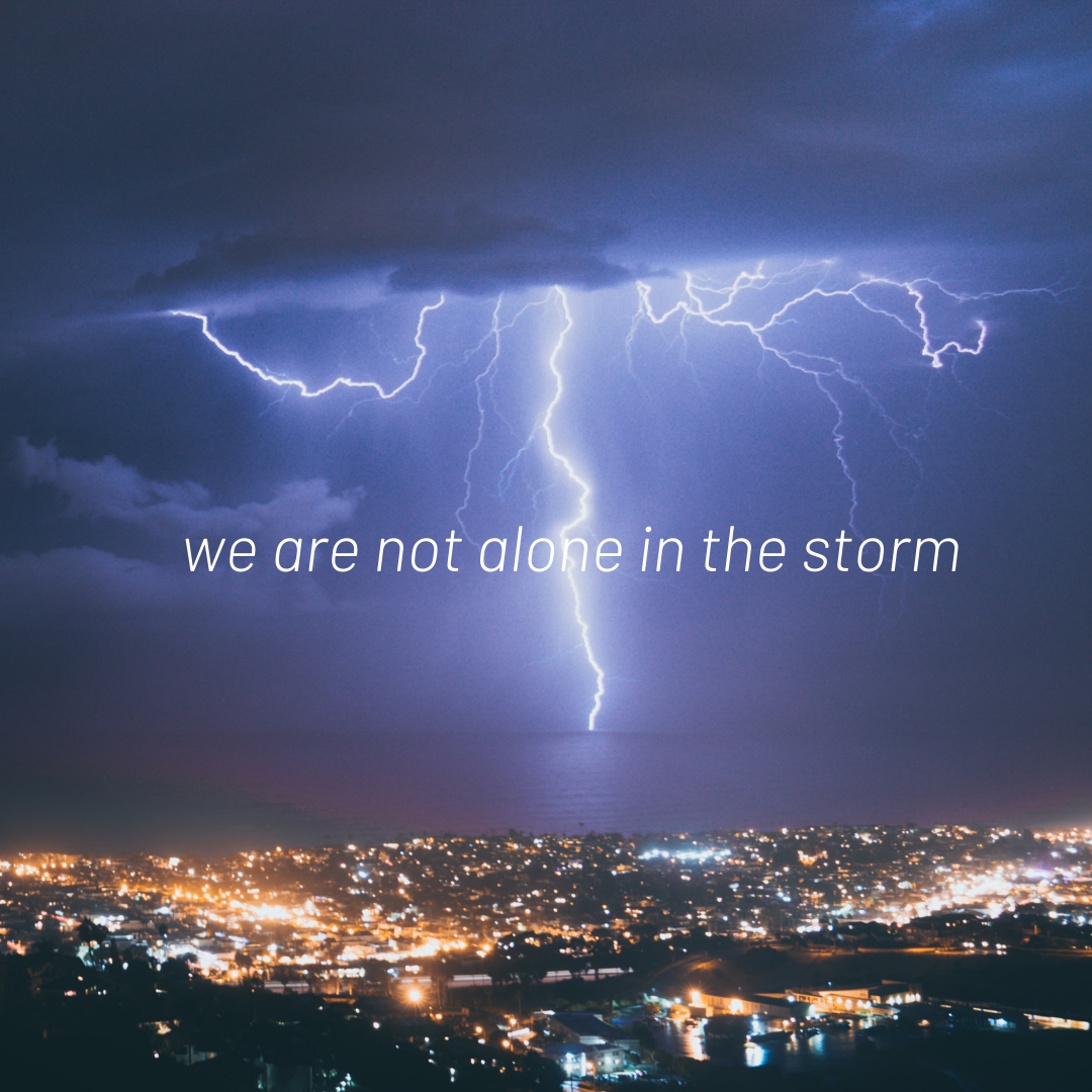 we are not alone in the storm - blog - 10-21-19